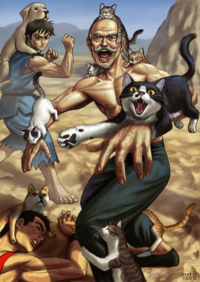 Master of kitten kung fu