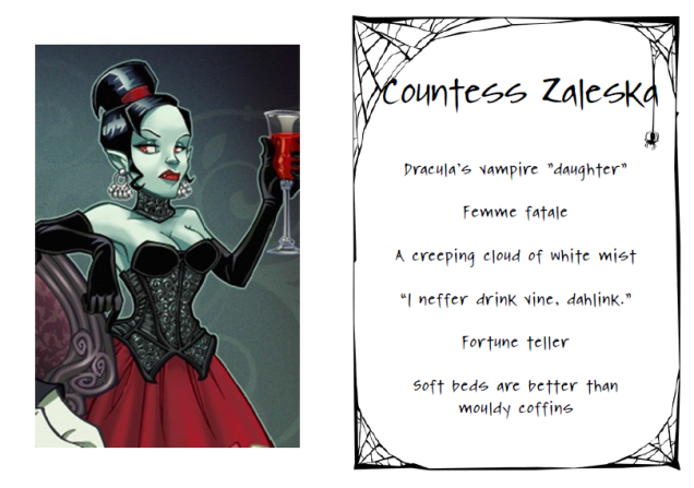 Countess Zaleska. Dracula's vampire