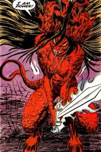 Illyana Rasputina's demon form from New Mutants #71