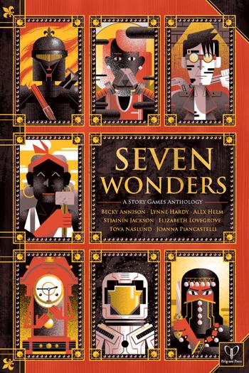 Seven Wonders cover, from Pelgrane Press Ltd