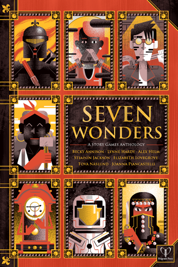 Seven Wonders cover, from Pelgrane Press Ltd