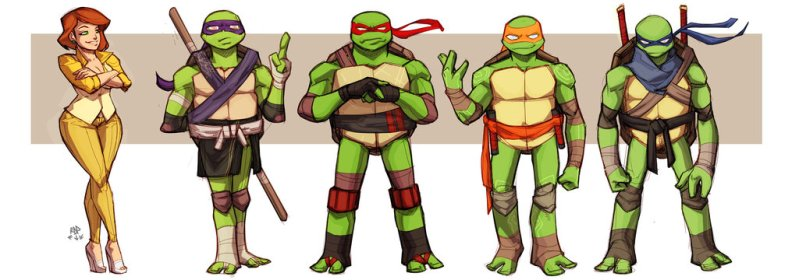 Four Ninjas and a Reporter by samuraiblack from DeviantArt