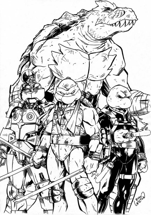 Ninja Turtles (Mirage vol 4) by channandeller (Ryan Wilton)
