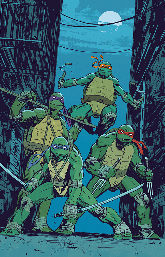 Teenage Mutant Ninja Turtles colour print by Michael Walsh