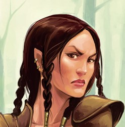 Example female half-elf from D&D 4e PHB