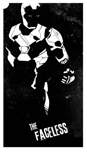 Iron Man as The Faceless, by Melissa Trender (melissatrender.com)