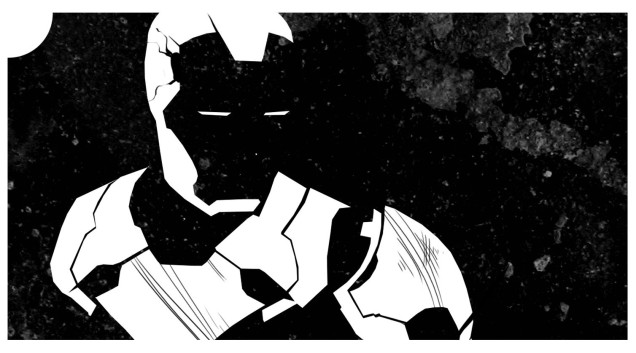 Teaser image of Iron Man as The Faceless, by Melissa Trender (melissatrender.com)