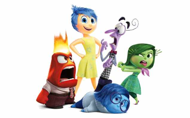 The emotions from Inside Out