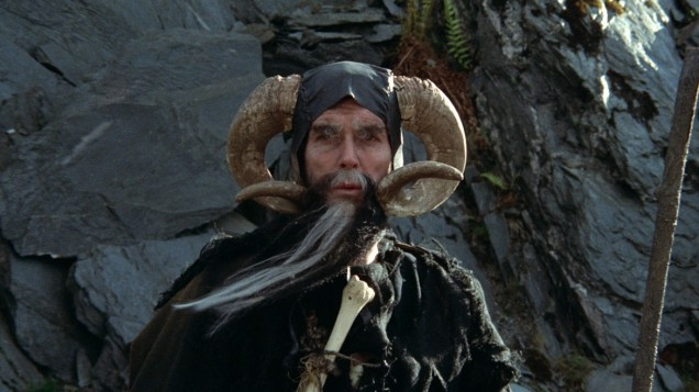 John Cleese as Tim the Enchanter from Monty Python and the Holy Grail.