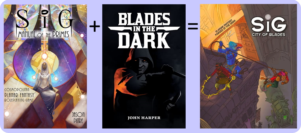 Sig: City of Blades is based on Sig: Manual of the Primes and Blades in the Dark